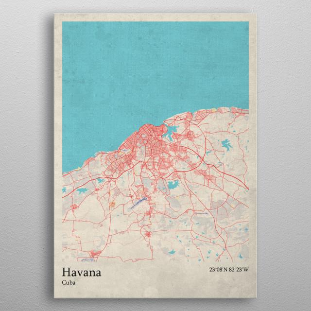 Havana  Cuba metal poster