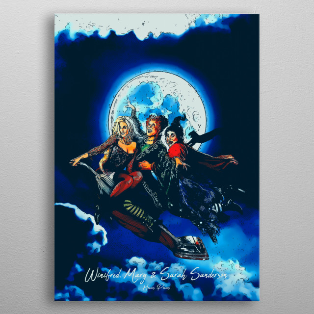 Winifred, Mary & Sarah Sanderson metal poster