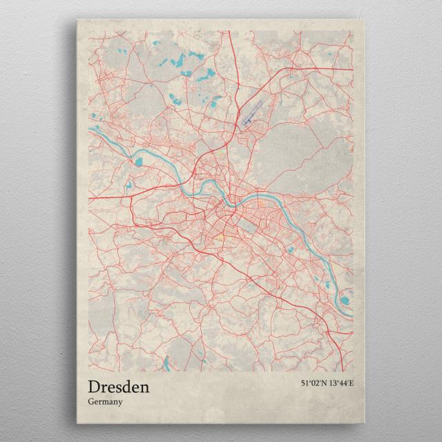 Dresden  Germany metal poster