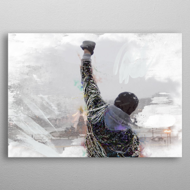 Fun lightning art - Rocky movie.  metal poster