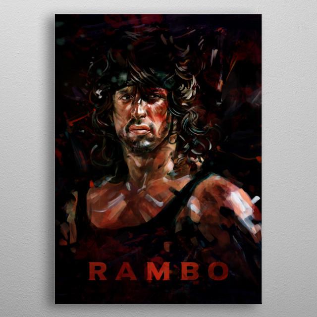 Rambo metal poster
