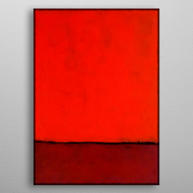 Original abstract acrylic painting, inspired by the work of Mark Rothko, by R. Trickett. metal poster