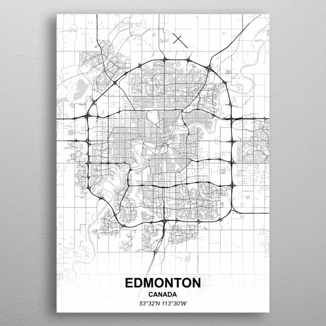 EDMONTON  CANADA metal poster