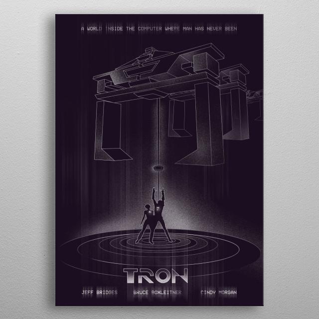 Alternative Tron movie art inspired metal poster