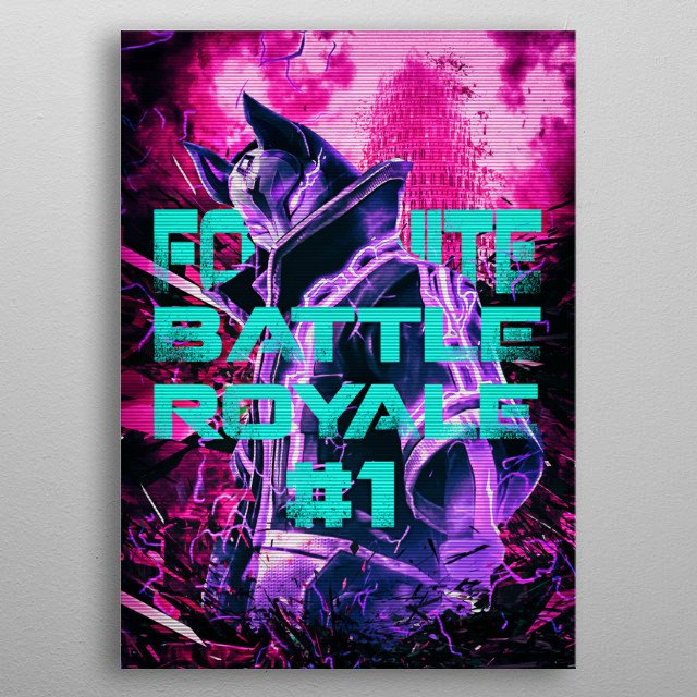 Battle Royale number one is a gaming tribute desing for all Battle Royale gamers metal poster