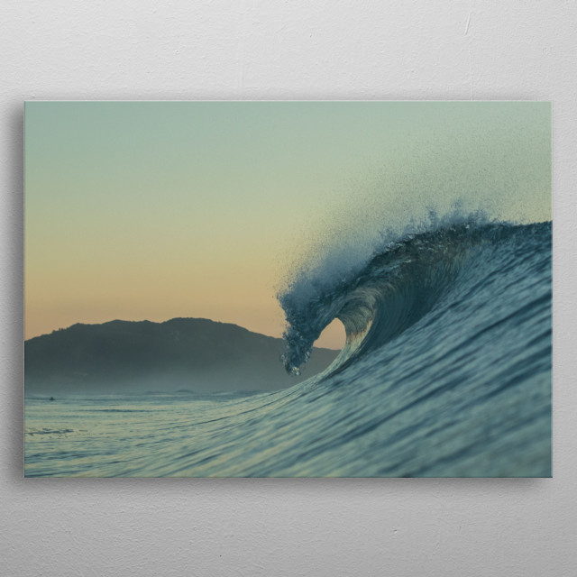Waves of my backyard, almost everyday i go to the water to photograph these waves at the sunrise. metal poster