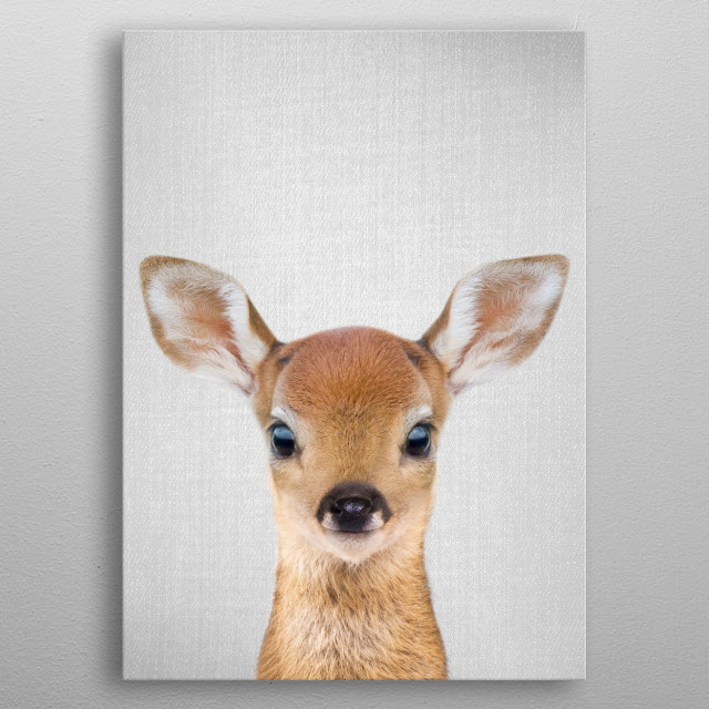 """Baby Deer - Colorful. For more colorful animals check out the collection in the main page of my shop """"Gal Design"""". metal poster"""