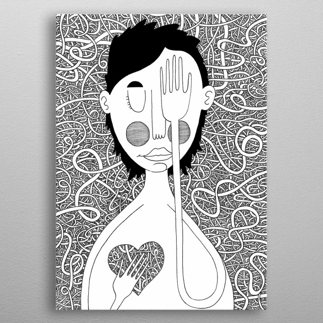 Blind love metal poster