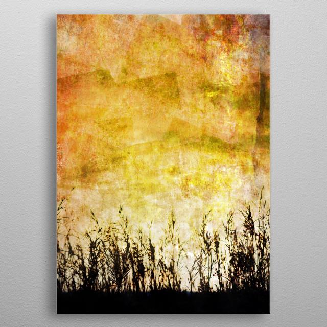 Textured landscape metal poster