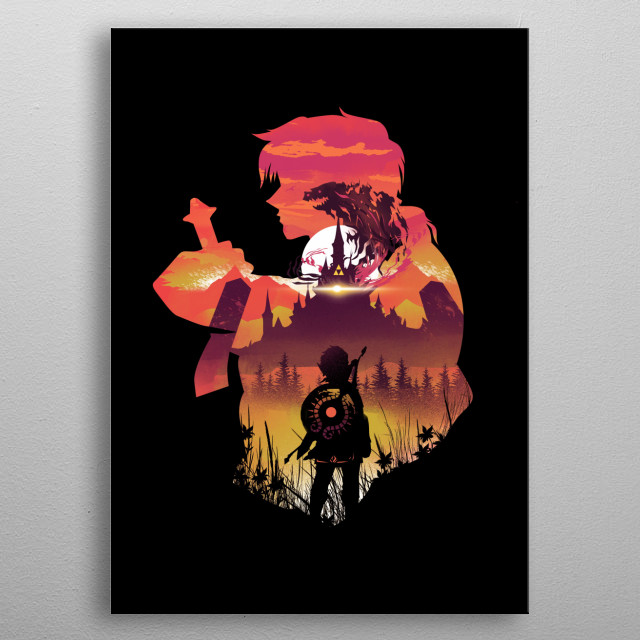 The Legends Sunset metal poster
