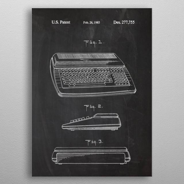 Computer Keyboard - Patent Drawing metal poster