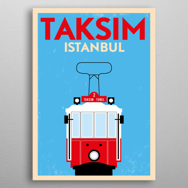 Taksim, Istanbul metal poster