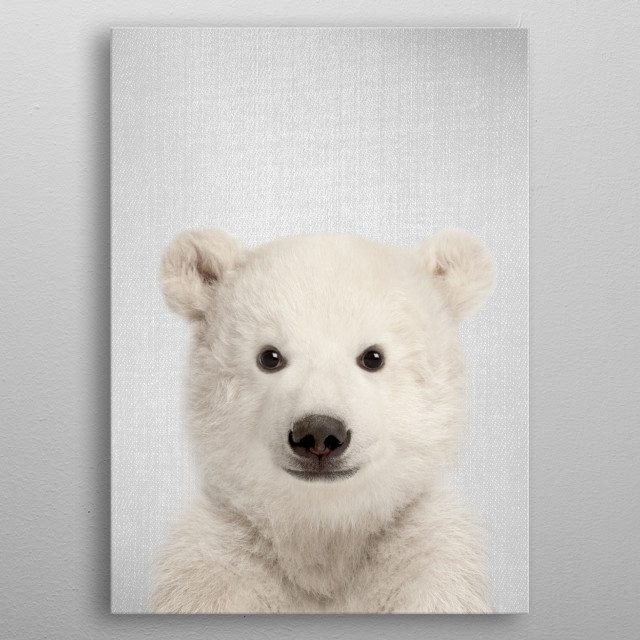 """Baby Polar Bear - Colorful. For more colorful animals check out the collection in the main page of my shop """"Gal Design"""".  metal poster"""