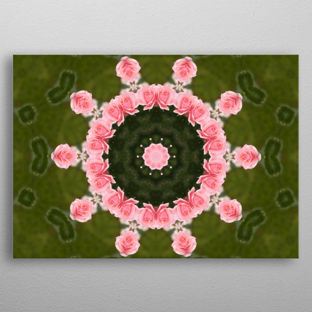 Mandala which will bring happiness to your life metal poster