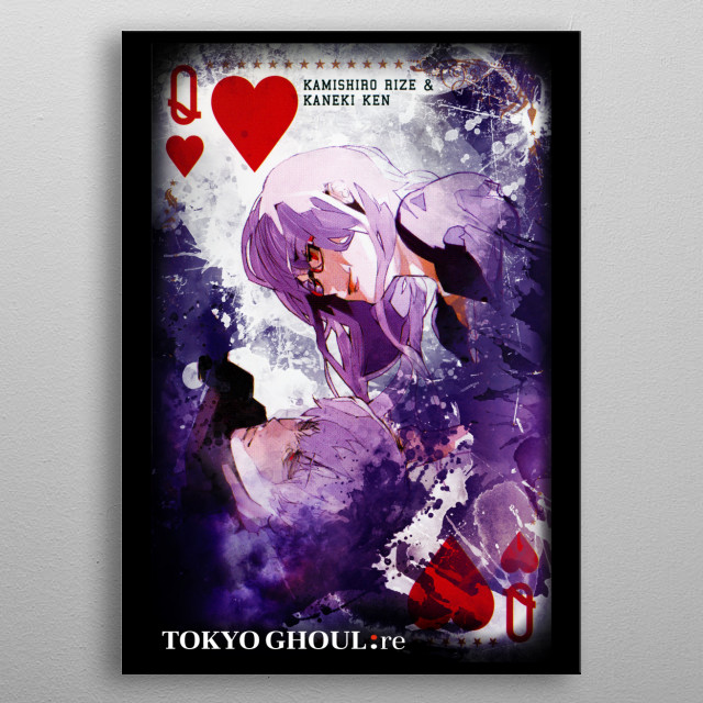 Rize Kamishiro from Tokyo Ghoul: Re metal poster