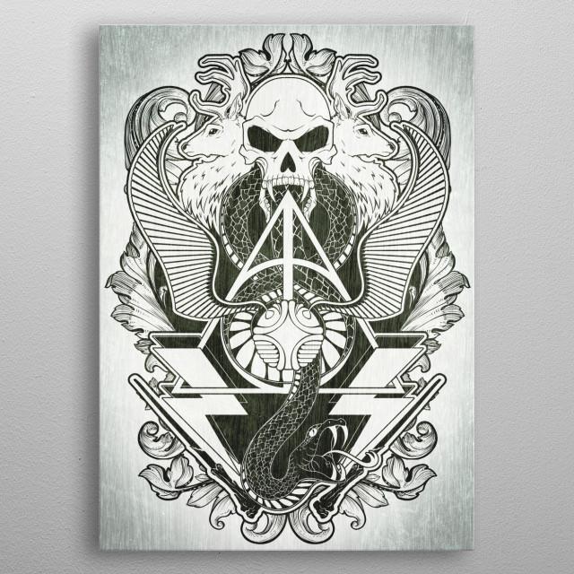 The Black Art of Wizardry metal poster