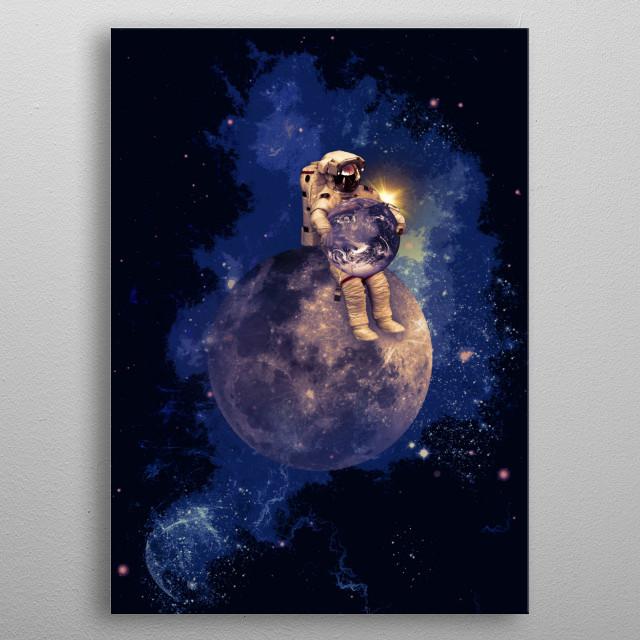 Moonman metal poster