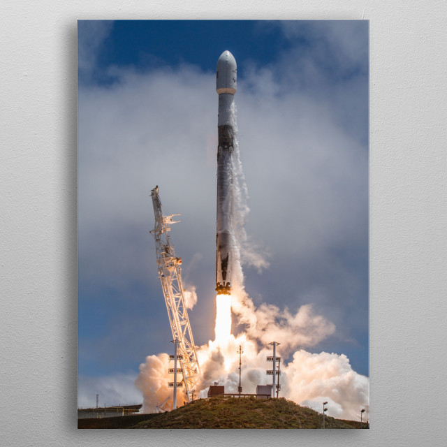 Falcon 9 Launch metal poster