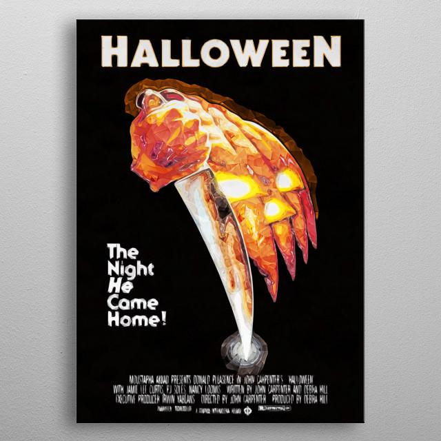 Halloween metal poster
