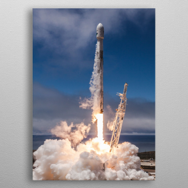 Falcon 9 Launch. metal poster