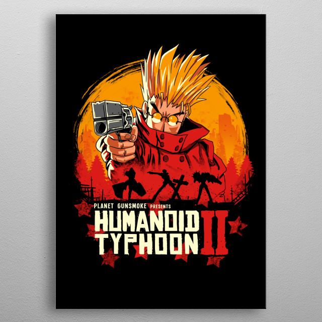 Typhoon humanoid meets RDR in a classic western showdown. metal poster