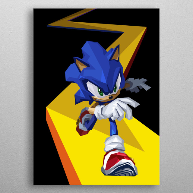 The Blue Speedster metal poster