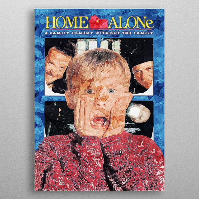 Home Alone metal poster