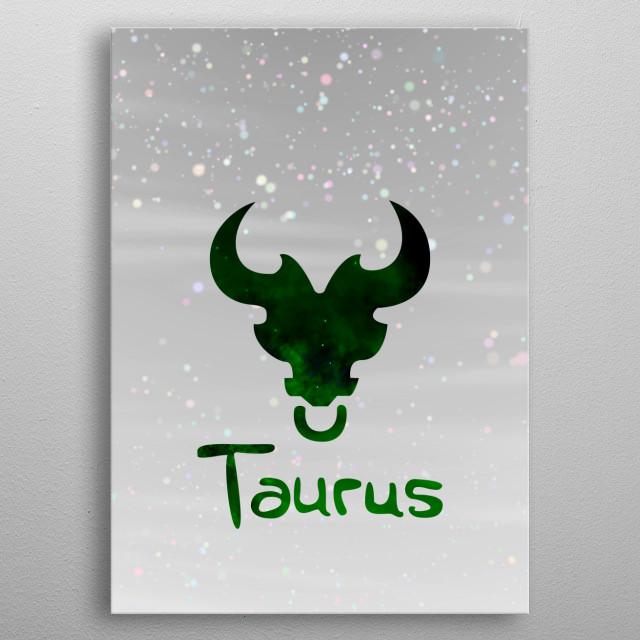 Zodiacal Taurus. metal poster