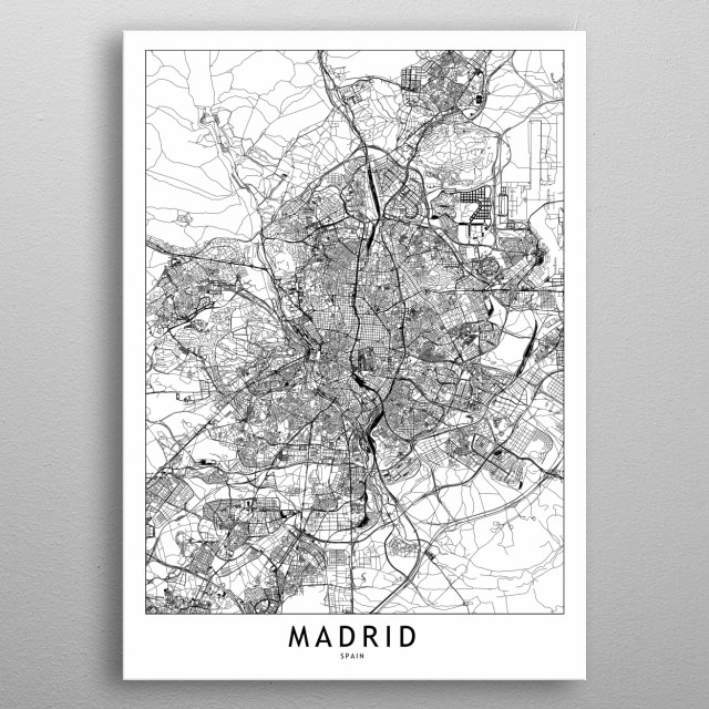 High-quality metal print from amazing White City Maps collection will bring unique style to your space and will show off your personality. metal poster