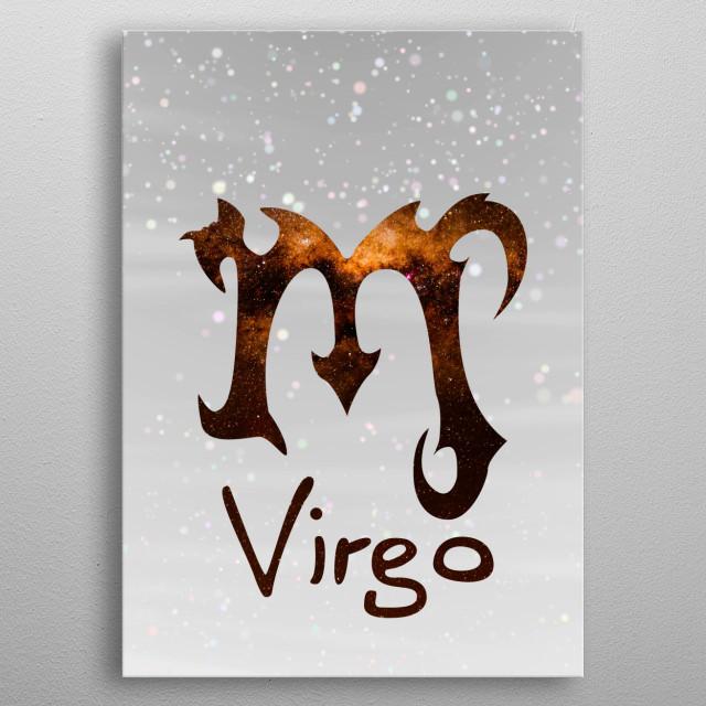 Zodiacal Virgo metal poster