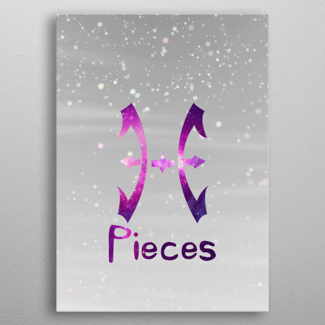 Zodiacal Pieces. metal poster