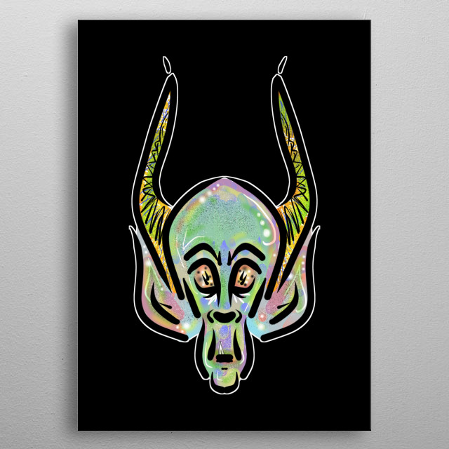 Unique Design by former Street Artist Vincent J. Newman.  metal poster