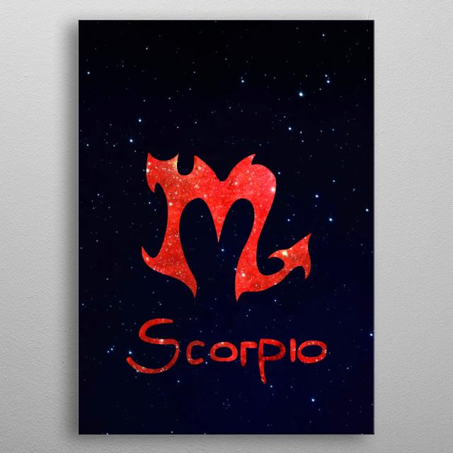 Zodiacal Scorpio. metal poster