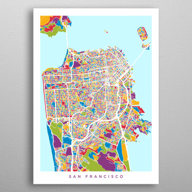 San Francisco Map Maps Poster Print | metal posters - Displate on cleveland state map, sf map, sierra county state map, ohio state map, yellowstone lake state map, jackson hole wyoming state map, green bay state map, united states state map, arizona state university state map, adams state map, sacramento state map, university of washington state map, montgomery state map, walla walla state map, mesa state map, billings state map, tx state map, iowa usa state map, armstrong state map, cal state map,