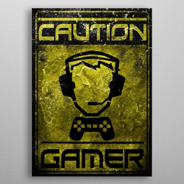 Gaming cult design sign gamer metal poster