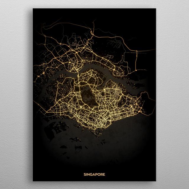 Singapore metal poster