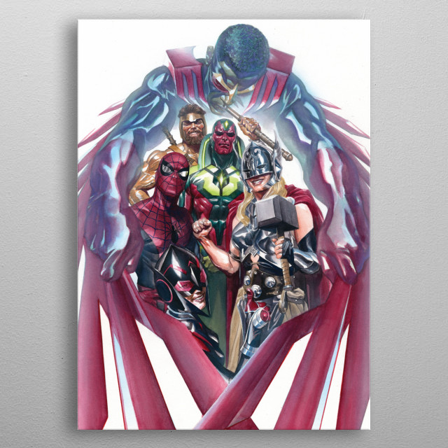 Team Up metal poster