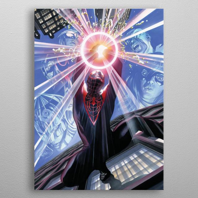 Miles Morales  metal poster