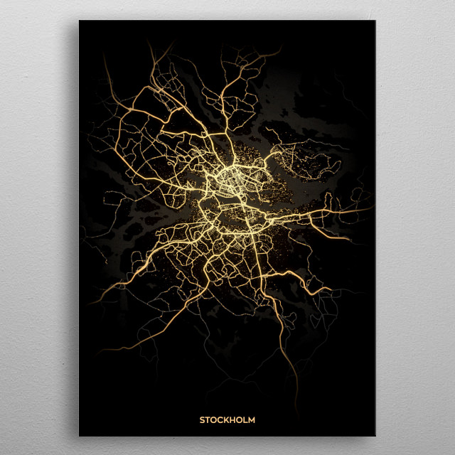 Stockholm, Sweden metal poster
