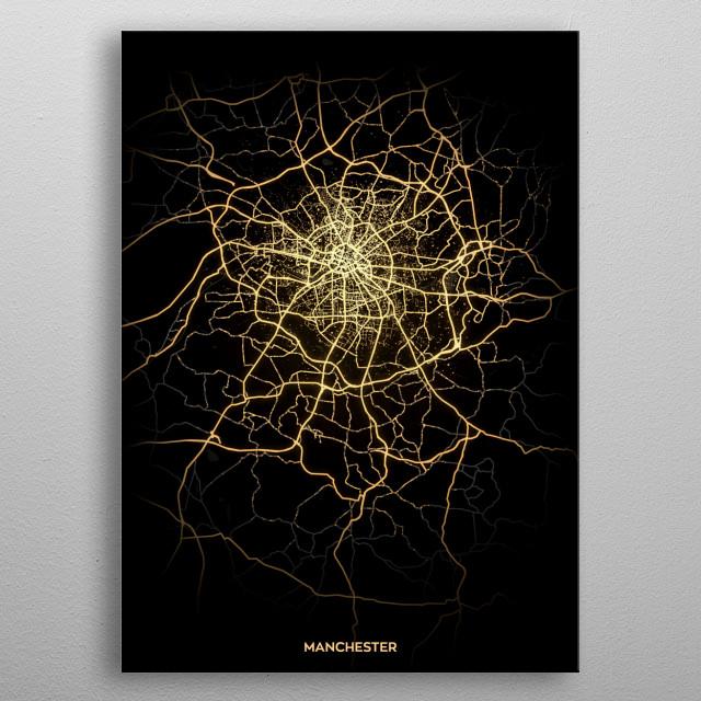 Manchester, UK metal poster