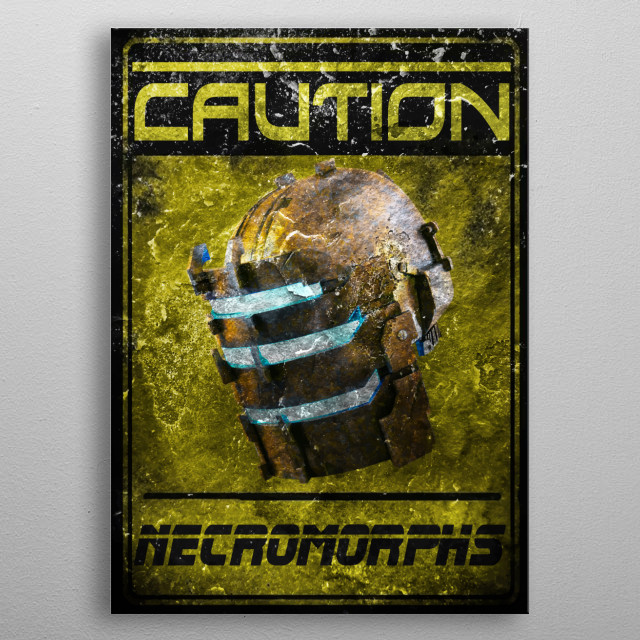 Gaming cult design dead space necromorph  metal poster