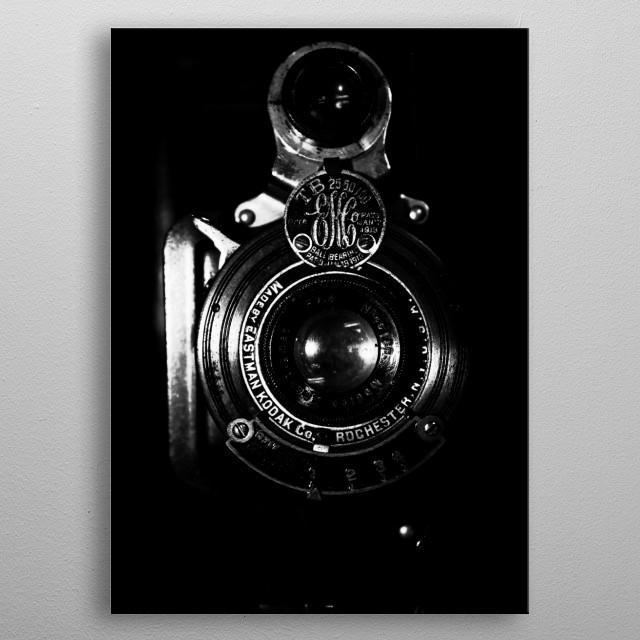 Old camera metal poster