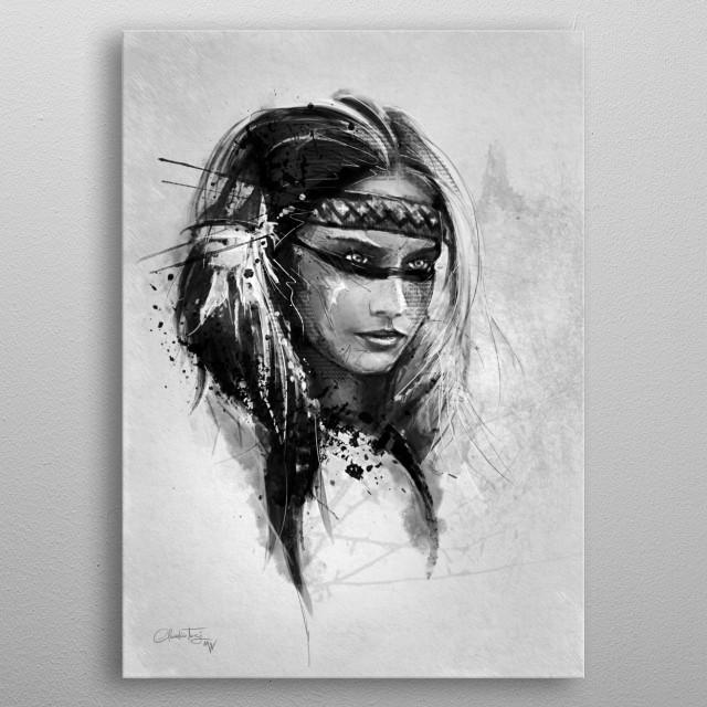 American Indian metal poster