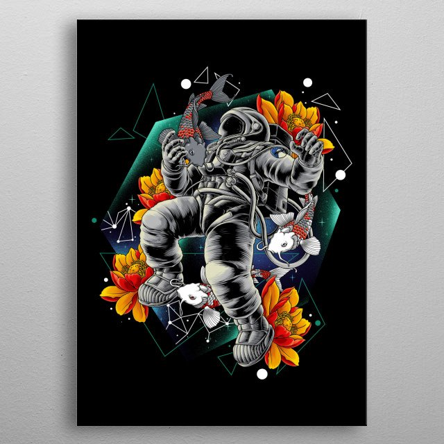 The most lukiest spaceman in the universe metal poster