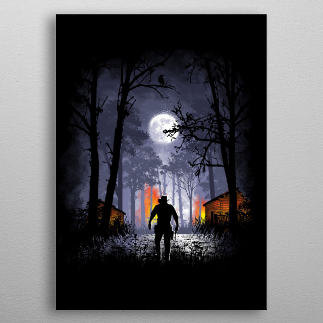 """Inspired by the game """"Red Dead Redemption 2."""" I hope you like it! :) metal poster"""