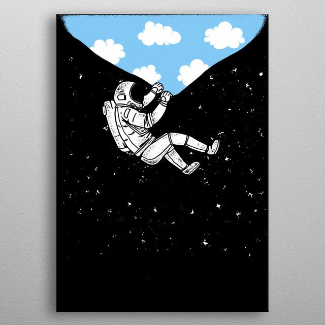 Do you love Astronauts? This Astronaut Space Shuttle Heaven Displate is perfect for a Kid's Room or also Living Room metal poster