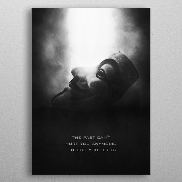 High-quality metal print from amazing Tagline collection will bring unique style to your space and will show off your personality. metal poster