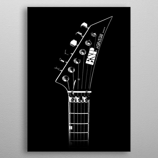 ESP Horizon Guitar-Music-Rock-Metal metal poster