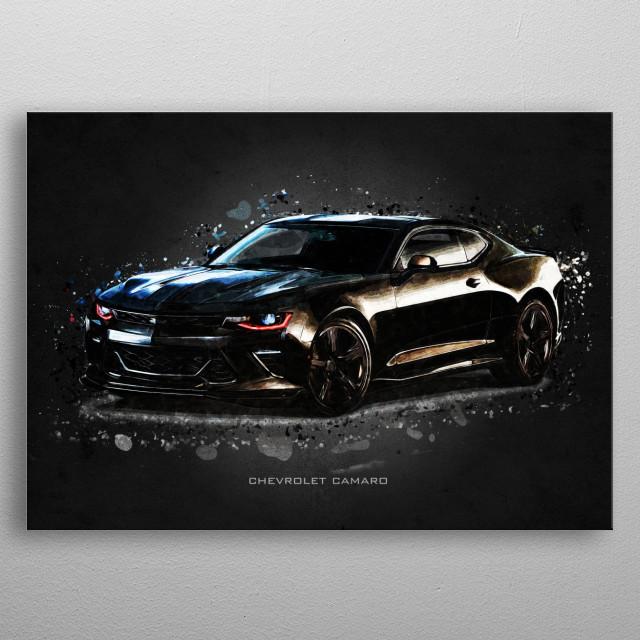 chevrolet camaro metal poster