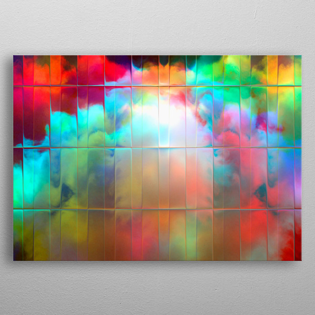 Abstract photograph of storm clouds gathering in the evening light.  metal poster